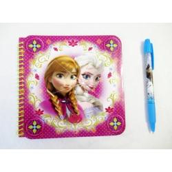 Notatnik z długopisem Anna i ELsa